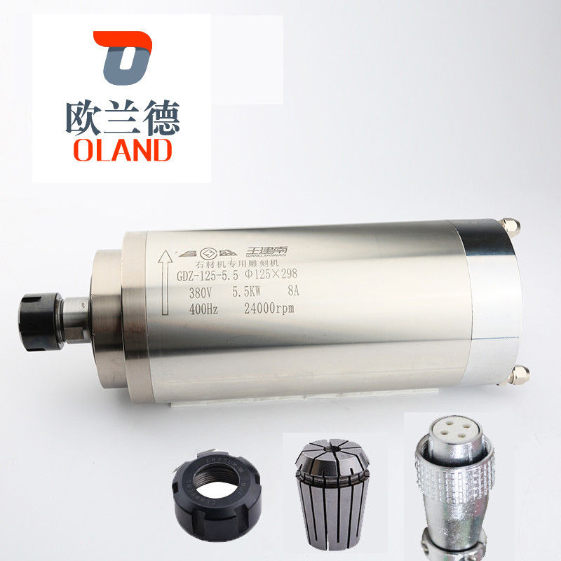 8A Current CNC Spindle Motor ER25 Joint Of Nose Long Working Life GDZ125-5.5